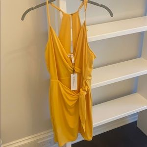 NEW BCBGeneration Wrap Front Dress in Pineapple